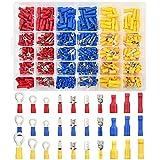 TUPARKA 500 piezas de conectores de cable eléctrico surtidos eléctricos de conexión rápida Kit de terminales de crimpado eléctrico Terminales Pala Bullet Butt Conectores