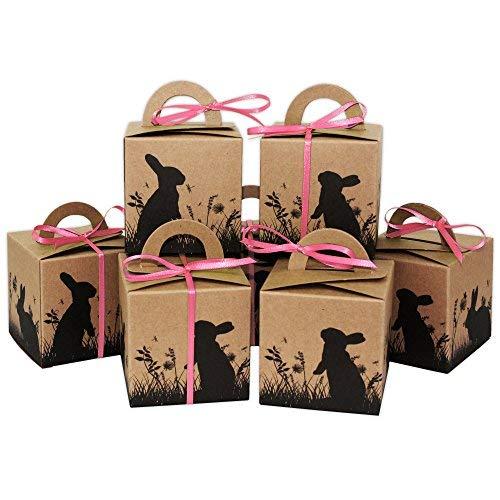 Papierdrachen - scatole per pasqua stampate - confezioni regalo marrone per pasqua - confezione regalo elegante - design 5