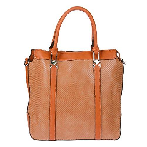 Xuna K1266 Schultertasche Tasche Handtasche Shopper (Khaki) Khaki