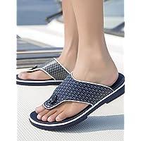 NTX/Herren Schuhe Casual Leder Hausschuhe/Flip Flops, Schwarz/Blau/Weiß