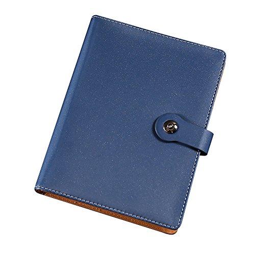 Jia HU A5matt Leder Binder Ringe Notizbuch Tagebuch, gebundenen Notizblock Tagebuch für Business...