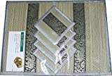 Thai Hand Made Reed place mat & coaster set for 4 people in GRAY