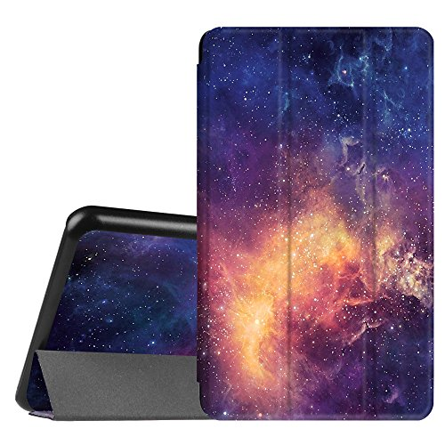 amsung Galaxy Tab A 7.0 Zoll SM-T280 / SM-T285 Tablet (2016 Version) - Ultra Schlank Superleicht Ständer Slim Shell Case Cover Schutzhülle Etui Tasche, Die Galaxie ()