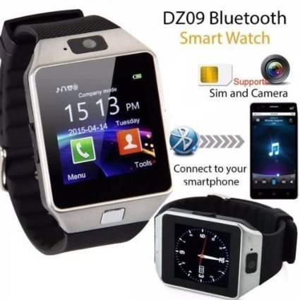 Cubee Bluetooth Smart Watch DZ09 Phone With Camera and Sim Card & SD Card Support With Apps like Facebook and WhatsApp Touch Screen Multilanguage Android/IOS Mobile Phone Wrist Watch Phone with activity trackers and fitness band Fit features compatible with Samsung IPhone HTC Moto Intex Vivo Mi One Plus 3, LYF Earth 2 Oppo, Vivo, Lenovo Zuk Z1