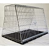 "Arrow 38"" SLOPING DOG CAR CAGE BOOT TRAVEL CRATE PUPPY GUARD FOR HATCHBACK & ESTATE"