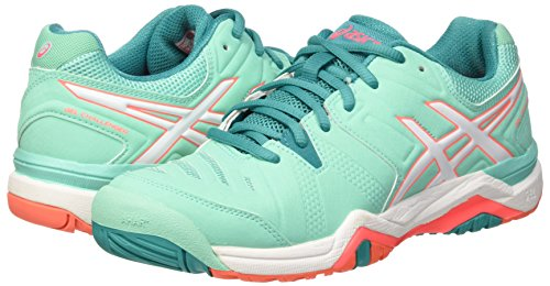Asics Women's Gel-Challenger 10 W Tennis Shoes, Multicolor (Cockatoo/White/Flash Coral), 6 UK