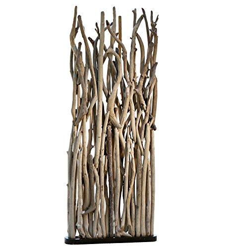 Loberon Paravent Woody, Treibholz/Holz, H/B/T ca. 170/80 / 23 cm, braun -