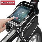 Eaiitty Fahrradtasche Fahrrad Rahmentasche,Oberrohrtasche mit Touchscreen, Wasserdicht für Mountainbike