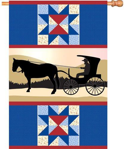 Premier Kites 52599Schlagschrauber mit 12,7House Brilliance Flagge, amischen Country, 28von - Amish Kostüm