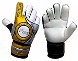 Sportskanone Golden Weapon Kinder Junioren Fingersave Torwarthandschuhe mit Tasche