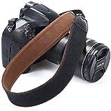 Beaspire Correa de Hombro Cuello Ajustable de Algodón Suave para Cámara Réflex DSLR Canon Nikon Pentax Sony (Correa-14 Negro)