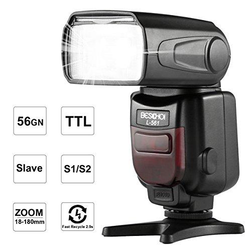 ich Blitzgerät für Nikon SLR-Kamera GN56 Wireless Slave Funktion Flash mit LCD-Anzeige ()