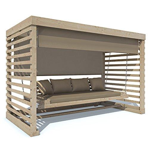 hollywoodschaukel tiffany holz gartenschaukel schaukelbank gartenm bel 4 sitzer auflage in. Black Bedroom Furniture Sets. Home Design Ideas