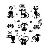 Kololy Adesivi Murali Decorazioni Gatto Amorevole Interruttore Luce per La Casa Animali Del Fumetto Decalcomania da Muro Art