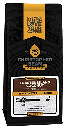 Christopher Bean Coffee Ground Flavored Coffee, Toasted Island Coconut, 12 Ounce 519uDwf6rLL