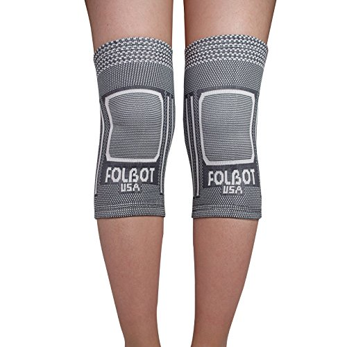 2a42848553 Knee Support Brace Pair for Women Men - Knee Compression Sleeve for  arthritis Knee Pain Recovery