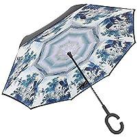 starter Paraguas Inverso Invertido Mango en C Manos en Forma de C Manejar al Agua de