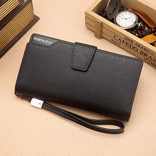 Lange Brieftasche Europa und Amerika Mode Multi-Kartenhalter Kupplung Große Kapazität Reißverschlusstasche Persönlichkeit Personality schwarz