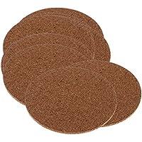 Gazechimp 10pcs Tapetes Adhesivos de Madera Blanda para Tazas Posavasos de Corcho Protector de Muebles