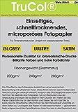 200 Blatt QuickDry SATIN Premium Fotopapier 280g /m² DIN A4 9600dpi. Schnelltrocknendes, microporöses Fotopapier. Welches unter anderem durch einen großen deutschen Discounter vertrieben wird.