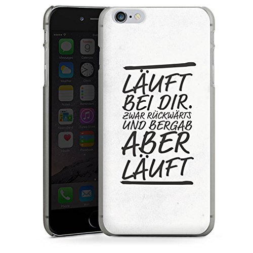 Apple iPhone X Silikon Hülle Case Schutzhülle Läuft bei dir Sprüche Humor Hard Case anthrazit-klar