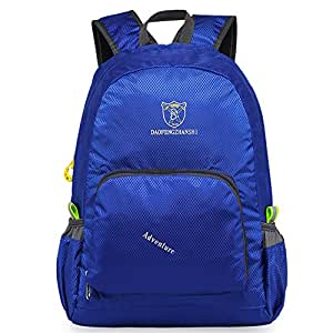 OrrinSports Water Resistant Polyester Lightweight Packable Handy Travel Foldable Daypack Deep Blue 20L