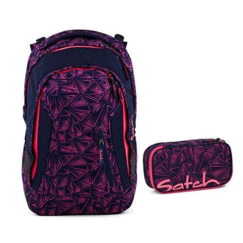 Satch Sleek Pink Bermuda Schulrucksack Set 2tlg.