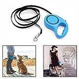 Gearmax® 3M Einziehbare Haustierleine Leicht zu Greifen Griff automatisches einziehbares Haustier Hunde Katzen Welpen(Blau)