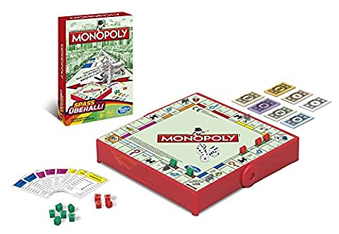 Hasbro Monopoly B1002100 - Monopoly Kompakt - Edition 2015, Spiel (Monopoly Kompakt)