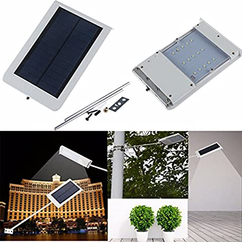 NEW 15LED ultrasottile Sensore di luce solare giardino impermeabile esterno Wall Street Lamp - Giardino Post Mount