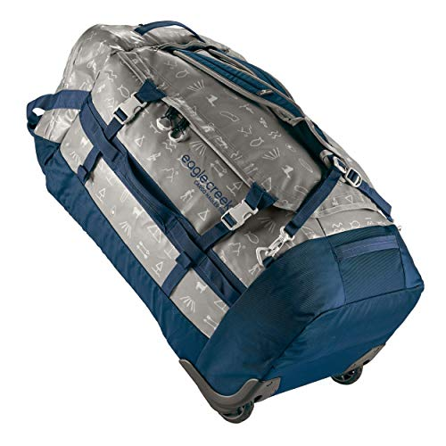 Eagle Creek Cargo Hauler Wheeled Duffel 110L, faltbare Reisetasche mit Rollen, großes Duffle Bag, abrieb- & wasserbeständiges TPU-Gewebe, Rucksacktragegurte, Cali Hiero, XL