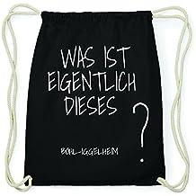 jollify böhl de iggelheim Hipster Sac de gym en coton Sac à dos–Couleur: Noir