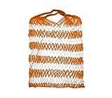 MEDIA WAVE store Borsa porta giochi e attrezzatura per il mare a rete art 219188 colorata (arancione)