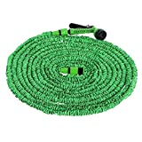 25Ft~150Ft Expandable Flexible Water Hoses Plastic Houses Pipe Watering Spray Gun with Nozzle for Garden Car Swimming Pool Boat : 125Ft