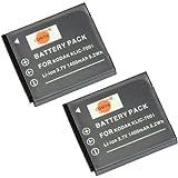 DSTE® 2x KLIC-7001 de remplacement Li-ion Batterie pour Kodark EasyShare V550, V570, V610, V705, V750, M320, M340, M341, M753, M763, M853, M863, M893 IS, M1063, M1073 IS