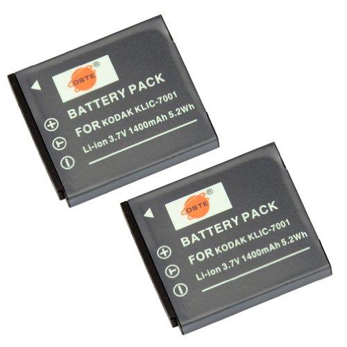 dste-2-pacco-ricambio-batteria-per-kodak-klic-7001-easyshare-m1063-m1073-is-m320-m340-m341-m753-zoom