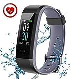 CHEREEKI Fitness Tracker, Orologio Smartwatch con Cardiofrequenzimetro, IP68...