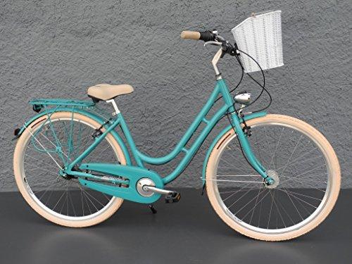 "28\"" Zoll Alu MIFA Fahrrad Damen City Bike Shimano Nexus 7 Gang Nabendynamo"