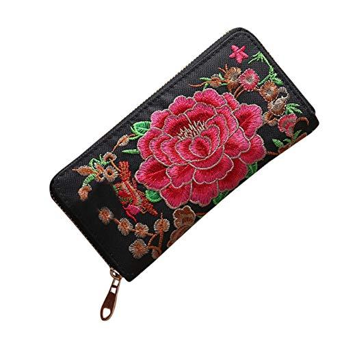Malloom® Frauen Fahion Nette Katze Lange Brieftasche Geldbörse Kartenhalter Handtasche Reißverschluss Lange Leder blau Kupplung -