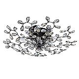 Kristall Deckenleuchte Modern Nickel Florentiner Stil