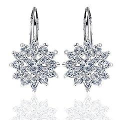Idea Regalo - Orecchini per regalo festa della mamma, pendente con zircone AAA placcato platino Orecchini regalo per mamma, per donna, YE-003