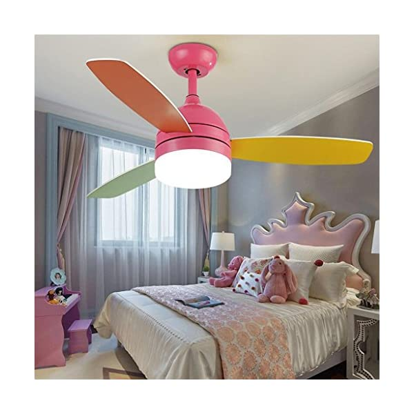 FANJIANI-Nios-creativos-Ventilador-de-Techo-Luces-de-Color-Fan-Simple-Lmpara-Dormitorio-Fan-Araa-Comedor-Sala-de-Estar-LED-Ventilador-de-Techo-Luces-Color-Pink-Tamao-Remote-Control