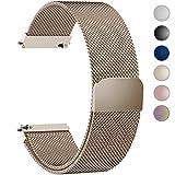Fullmosa 6 Farben Für Milanese Uhrenarmband, Milanese Smart Watch Armand Ersatzband mit Edelstahl Magnet-Verschluss Watch Replacement für 20mm Gold