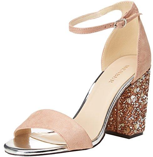 sports shoes 477e3 7e683 Menbur Bordolano, Sandalia con Pulsera para Mujer, Beige (Nude 97), 38 EU
