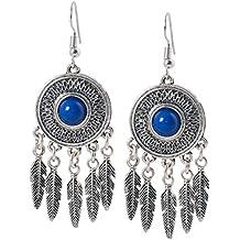 geralin Gioielli–Pendientes atrapasueños Azul Plata indios pendientes vintage