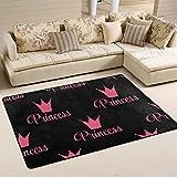 coosun Prinzessin Krone Muster Bereich Teppich Teppich rutschfeste Fußmatte Fußmatten für Wohnzimmer Schlafzimmer 91,4x 61cm, Textil, multi, 36 x 24 inch