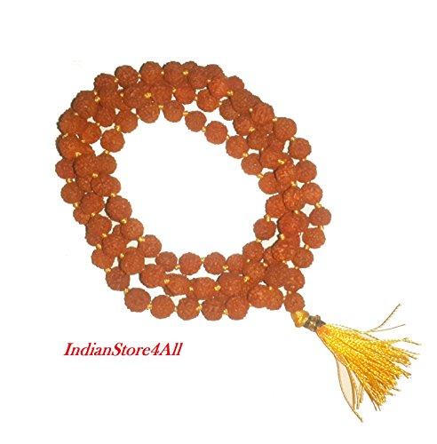 IndianStore4All Rudraksha Mala 100% Original rudraksha Mala
