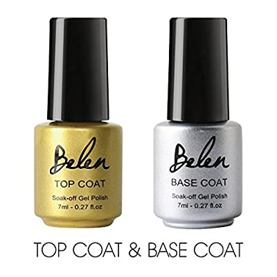 Belen 2PCS Top & Base Coat Nail Gel Polish 7ml