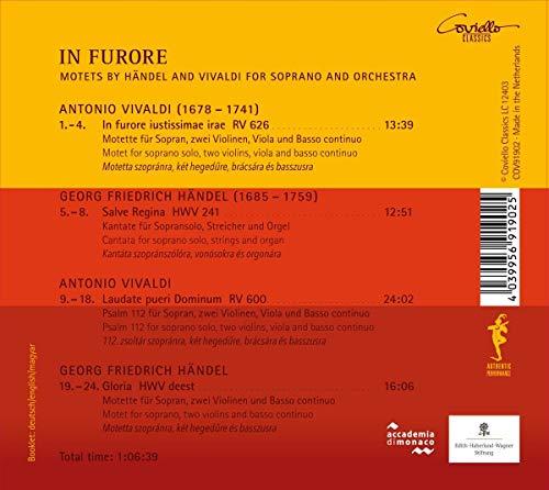 Haendel - Vivaldi : in Furore, Motets pour Soprano et Orchestre