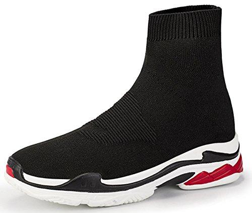 NEWCOLOR Unisex Scarpe da Ginnastica da Passeggio con Taglio Alto Scarpe Paio Fannullone Comfort Sneakers da Ginnastica in Maglia